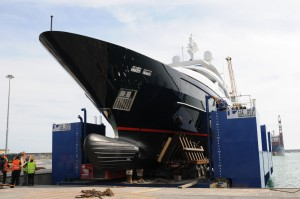 Launch-of-STARLING-yacht-5th-Sanlorenzo-46-Steel-yacht
